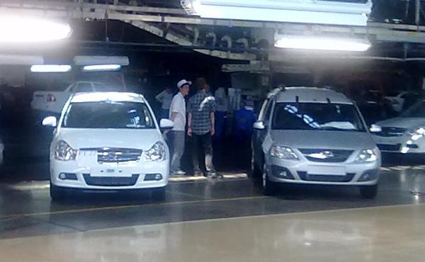 Сборка новой Ниссан Альмера на АвтоВАЗе - июнь 2012