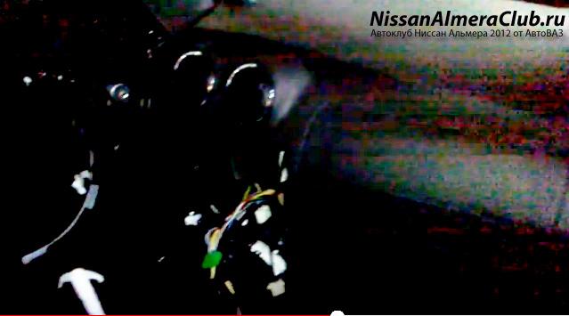 Ниссан Альмера (АвтоВАЗ). Интерьер: панель приборов