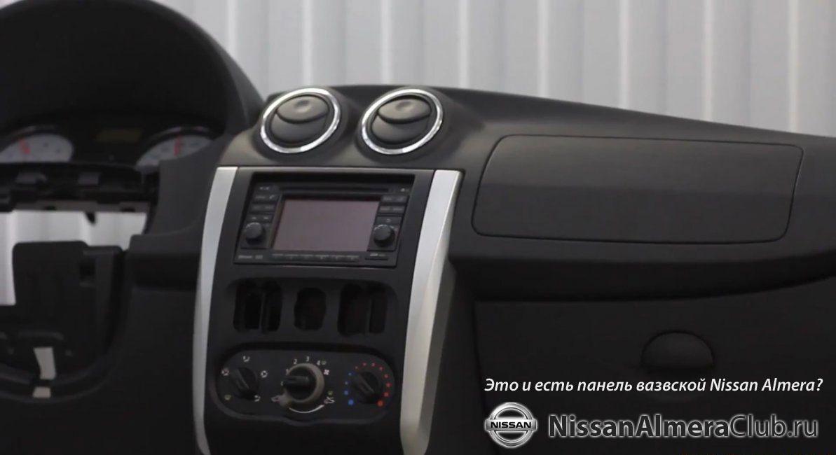 новая панель приборов nissan almera