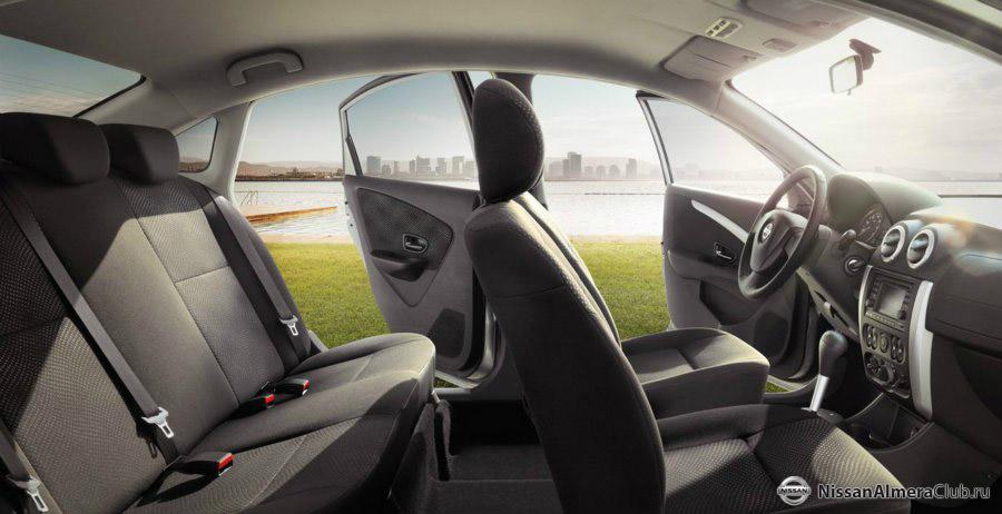 Nissan Almera 2013 от АвтоВАЗ: фотография салона, панель приборов как у Логана